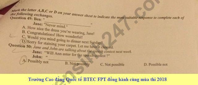 De thi thu THPTQG mon Anh 2018 THPT Quang Xuong lan 1