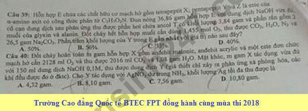De thi thu THPT Quoc gia mon Hoa 2018 THPT Quang Xuong