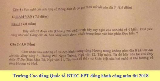 De thi thu THPTQG mon Van 2018 THPT Quang Xuong lan 2