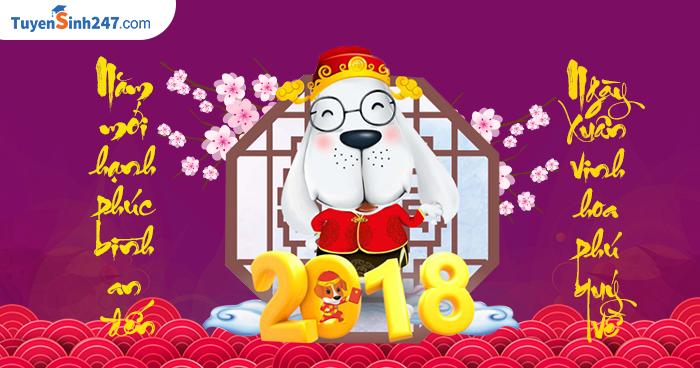 Nhung mau thiep chuc tet Mau Tuat 2018 dep nhat