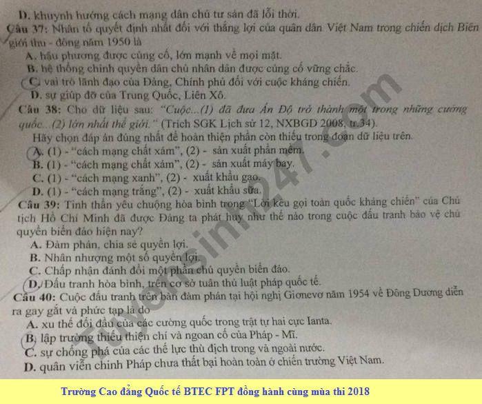 De thi thu THPT Quoc gia mon Su 2018 So GD Ninh Binh