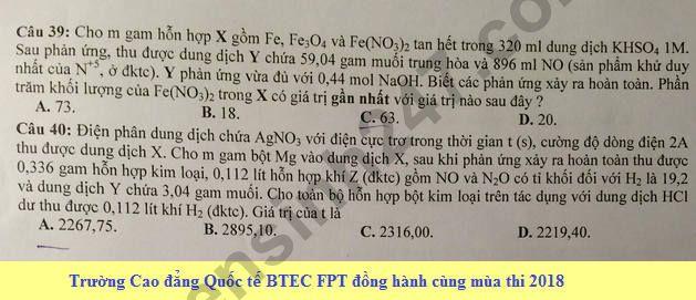 De thi thu THPT Quoc gia 2018 mon Hoa Chuyen Le Quy Don lan 2