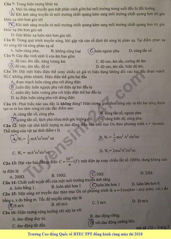 De thi thu THPT Quoc gia mon Ly 2018 Chuyen Le Quy Don lan 2