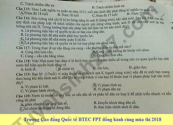 De thi thu THPTQG mon GDCD Chuyen Ha Giang 2018 lan 1