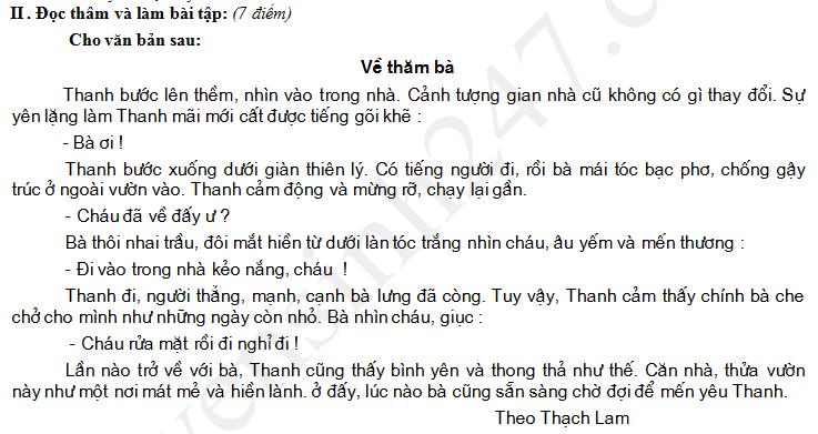 De thi giua hoc ki 2 lop 4 mon Tieng Viet 2017 - TH Lien Huong 5