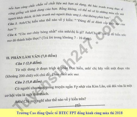 De thi thu THPT Quoc gia mon Van 2018 Chuyen KHTN lan 2