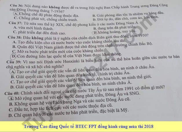 De thi thu THPT Quoc gia mon Su Chuyen Ha Long 2018