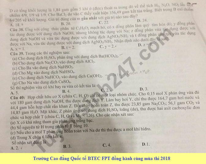 De thi thu THPT Quoc gia mon Hoa lan 1 nam 2018 - THPT chuyen Vo Nguyen Giap