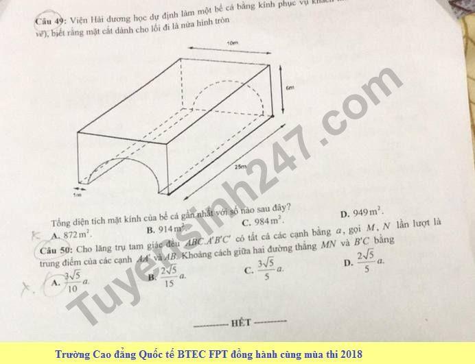 De thi thu THPT QG mon Toan nam 2018 - THPT Chu Van An