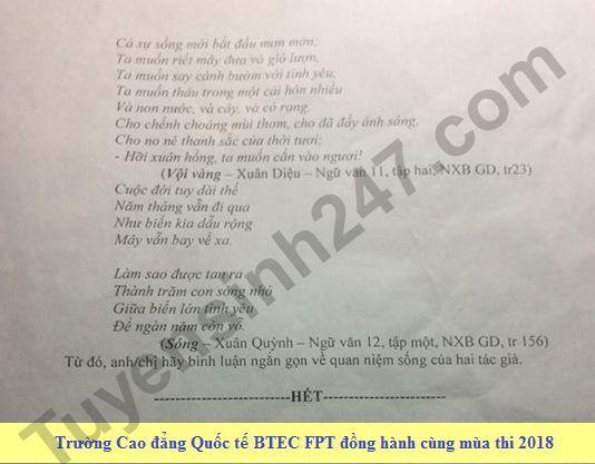 De thi thu THPT QG mon Van lan 1 nam 2018 - THPT Chuyen Vo Nguyen Giap