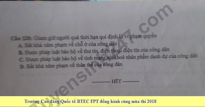 De thi thu THPT QG mon GDCD lan 3 nam 2018 - THPT Chuyen Phan Boi Chau