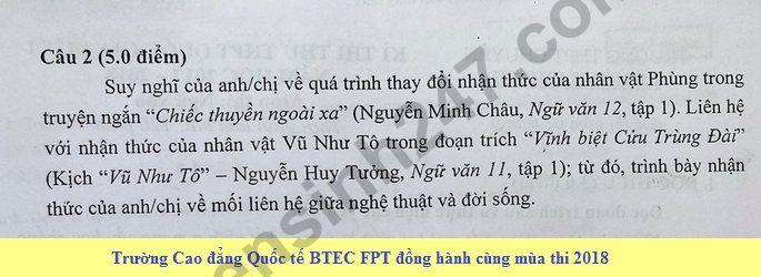 De thi thu THPT QG mon Van lan 1 nam 2018 - THPT Chuyen Le Hong Phong