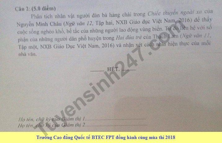 De thi thu THPT QG mon Van - So GD&DT Nam Dinh nam 2018