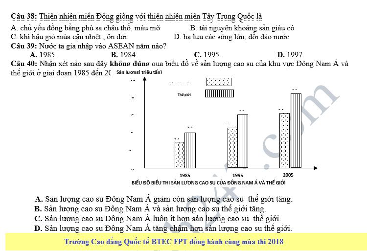 De thi thu THPT QG mon Dia nam 2018 - THPT Nguyen Van Cu