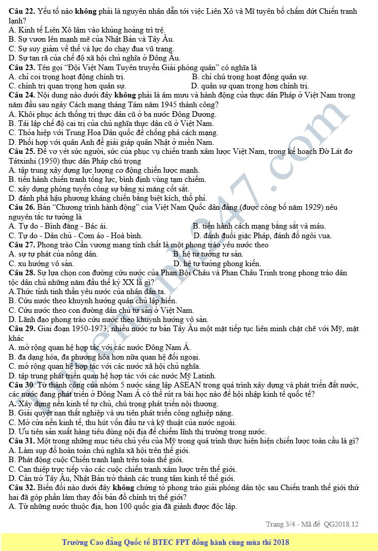 De thi thu THPT QG mon Su nam 2018 - THPT An My