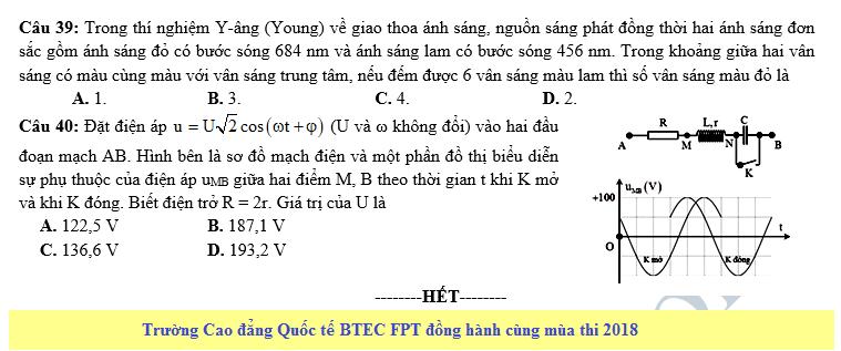 De thi thu THPT QG mon Ly nam 2018 lan 2 - THPT so 3 An Nhon 2018
