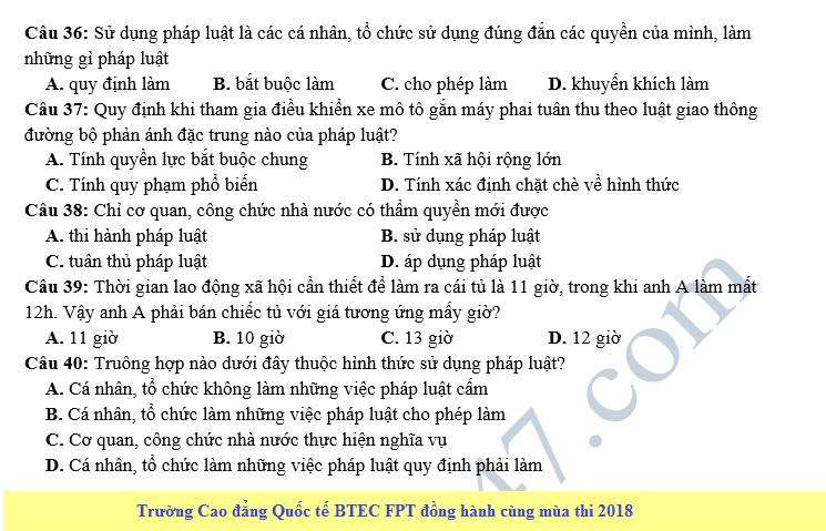 De thi thu THPT QG mon Dia lan 1 nam 2018 - THPT Ung Hoa A