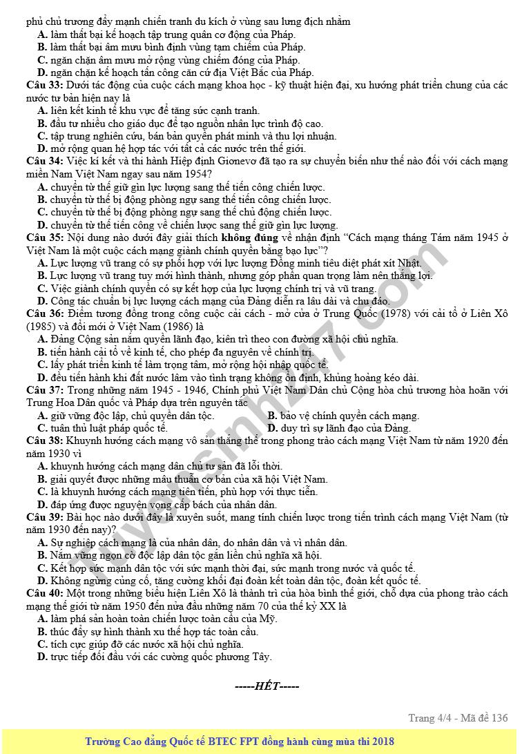 De thi thu THPT QG mon Su nam 2018 - So GD&DT Kien Giang
