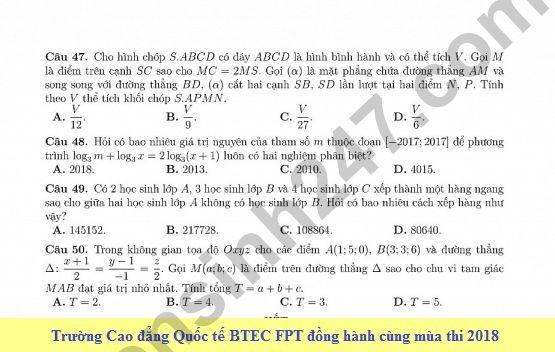 De thi thu THPT QG mon Toan lan 2 - THPT Vo Thanh Trinh 2018