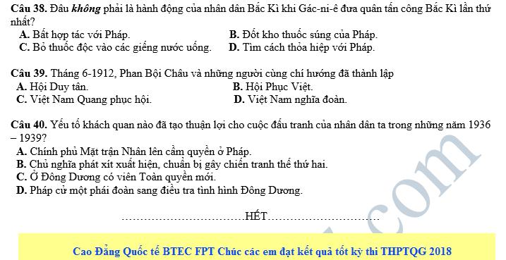 De thi thu THPT QG mon Su - So GD&DT Quang Nam 2018