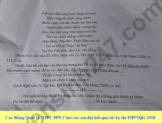 De thi thu THPT QG mon Van lan 2 nam 2018 - So GD Binh Phuoc