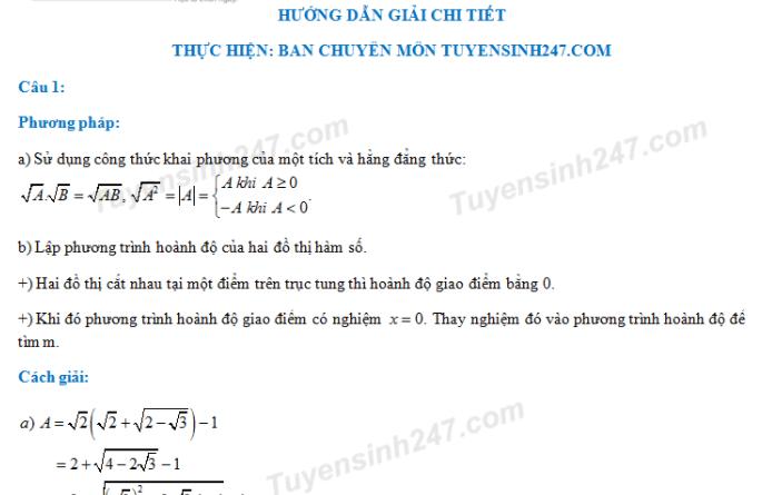 De thi vao lop 10 mon Toan - THPT Chuyen Hung Yen 2018
