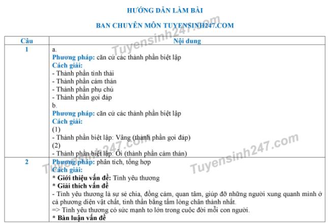 Dap an de thi vao lop 10 mon Van tinh Lang Son 2018