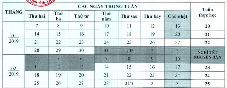 Hoc sinh Gia Lai nghi tet Ky Hoi 2019 la 14 ngay
