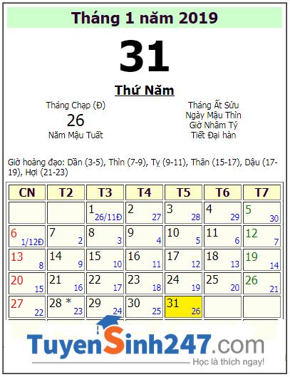 Lich nghi tet Nguyen Dan 2019 cua hoc sinh Vung Tau
