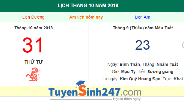 Halloween 2018 vao thu may?