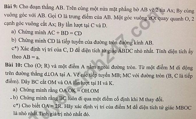 De cuong on tap ki 1 lop 9 mon Toan nam 2018