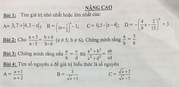De cuong on tap ki 1 lop 7 mon Toan 2018 - THCS Nguyen Phong Sac