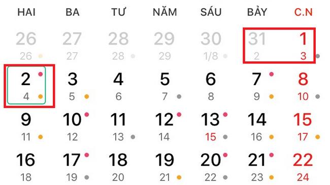 Lich nghi tat ca cac ngay le nam 2019: gio to Hung Vuong, 30/4, 2/9