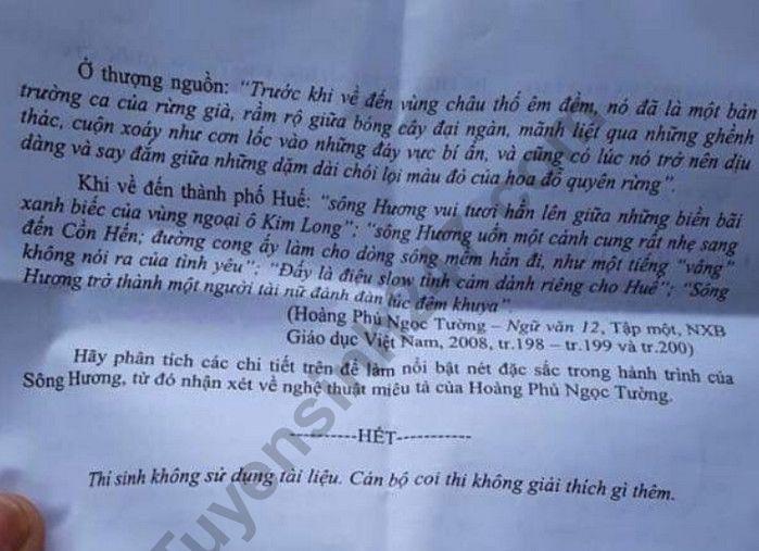 De thi thu THPT Quoc Gia mon van nam 2019 - So GD Ninh Binh lan 1