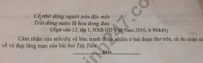 De thi thu THPTQG 2019 mon Van - So  GD Thanh Hoa