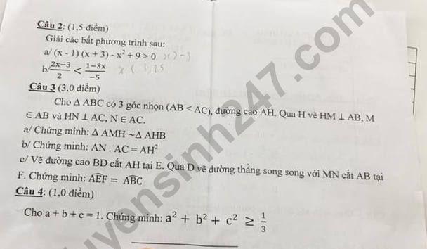 De thi ki 2 lop 8 mon Toan - THCS Ly Tu Trong 2019