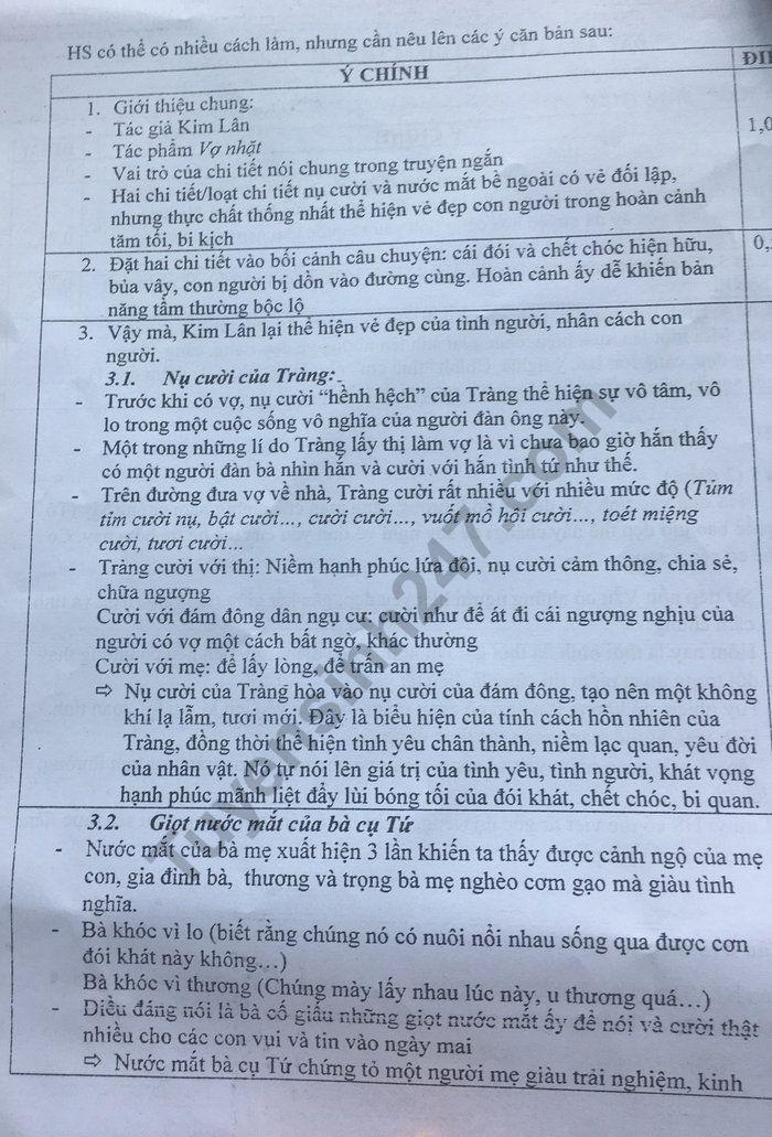 De thi thu THPTQG 2019 mon Van - Chuyen DH Su Pham Ha Noi (co dap an)