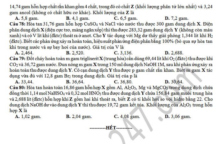 De thi thu THPTQG mon Hoa So GD Ba Ria - Vung Tau lan 1