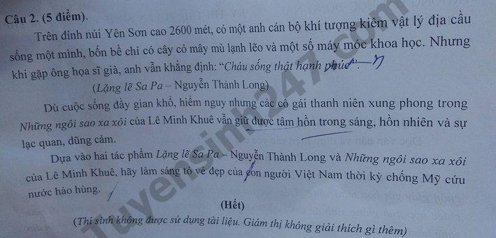 De thi thu vao lop 10 nam 2019  Dong Nai mon Van