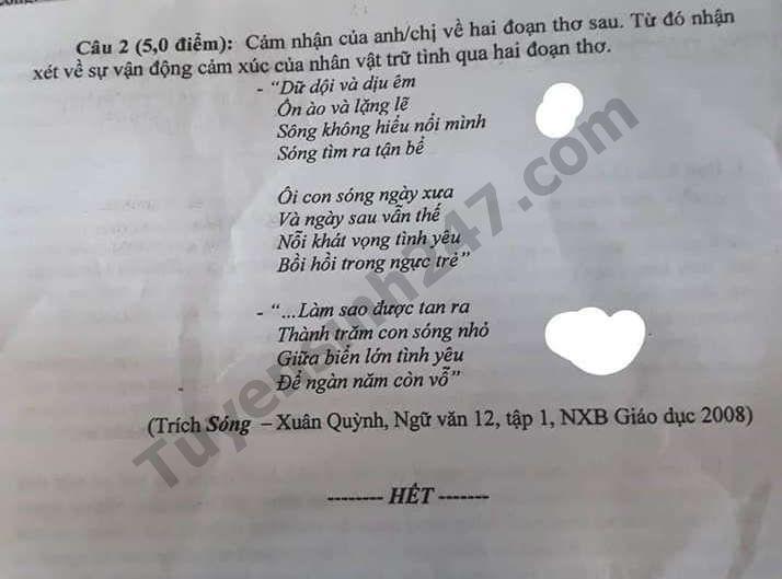 De thi thu THPT QG mon Ngu Van nam 2019 THPT Phan Boi Chau