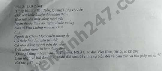De thi thu THPTQG mon Van nam 2019 THPT Luong The Vinh