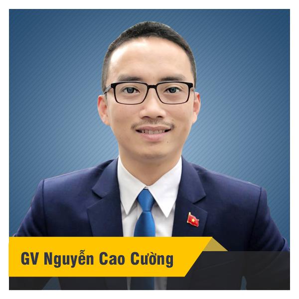 Thầy Nguyễn Cao Cường - Khóa luyện đề thi thử vào 10 môn Toán năm 2020
