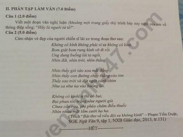 Dap an de thi vao lop 10 mon Van So Vung Tau nam 2019