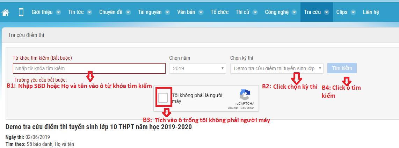 Tra cuu diem thi vao lop 10 Bac Giang nam 2019