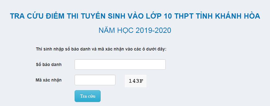 Da co diem thi vao lop 10 Khanh Hoa