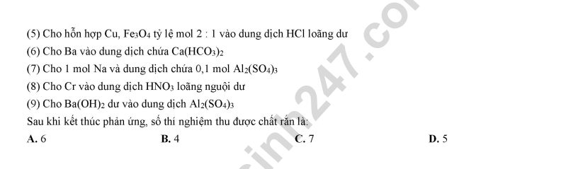 Dap an de thi thu THPTQG mon Hoa nam 2019 THPT Le Quy Don