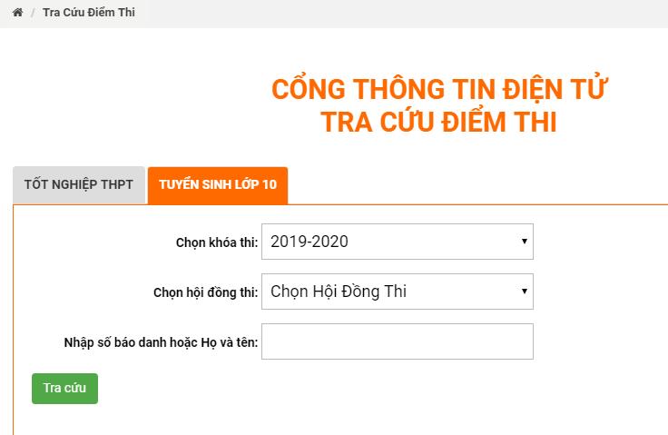 Dong Nai cong bo diem thi vao lop 10 nam 2019