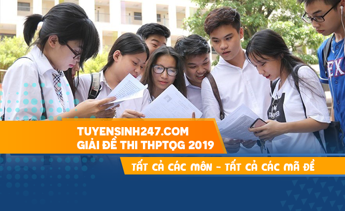 Tuyensinh247 giai de thi THPTQG 2019 - Tat ca cac mon