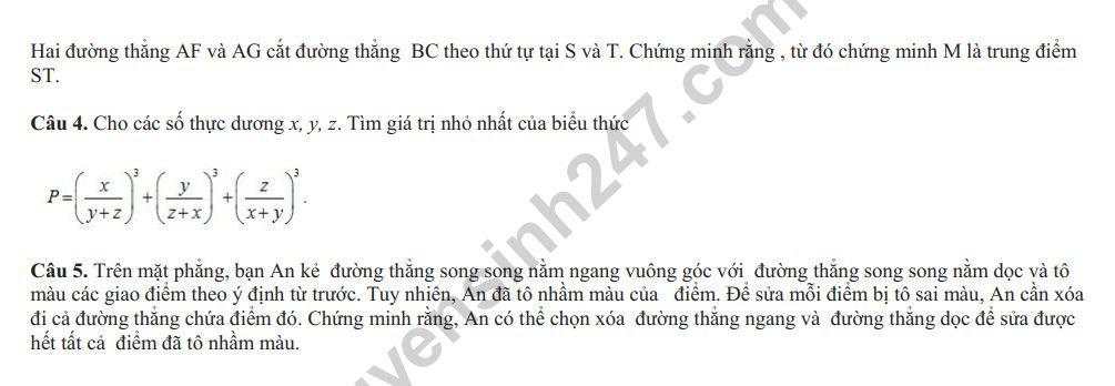 De thi KSCL dau nam lop 10 mon Toan Chuyen Bac Ninh 2018 - 2019 co dap an