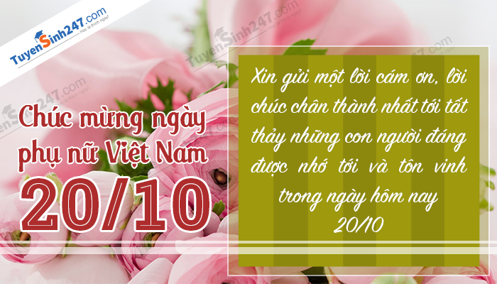 Bo thiep chuc mung ngay phu nu Viet Nam 20/10 y nghia